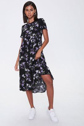 Forever 21 Floral Print Midi Dress