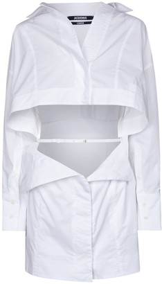 Jacquemus La Robe Terraio cotton poplin minidress