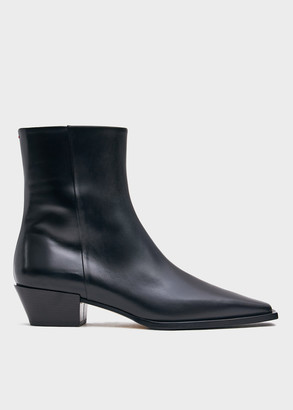 AEYDĒ Women's Ruby Boot in Black, Size 36 | Leather