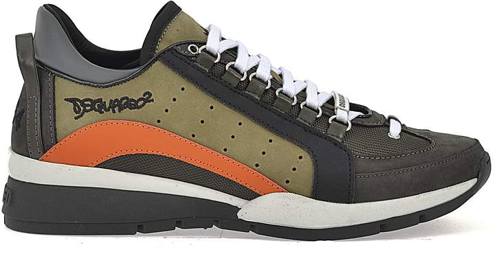 DSQUARED2 Leather And Fabric Sneakers