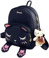 Donalworld Girl Floralchool Bag Travel Cute PU Leather Mini Backpack