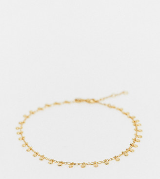 Accessorize Exclusive Curve anklet with disc charms in gold