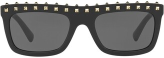 Valentino Square Frame Sunglasses
