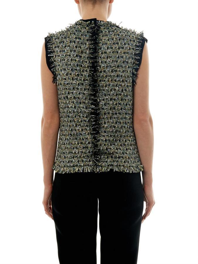 Lanvin Lamé tweed sleeveless top