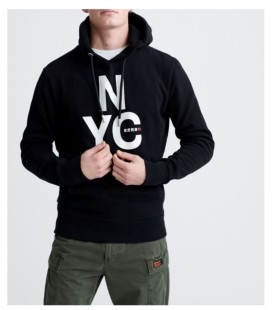 Superdry Men's Brand Language City Hooded Sweatshirt