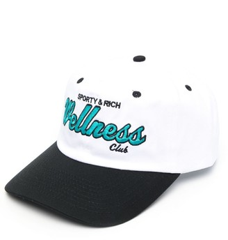 Sporty & Rich Embroidered-Logo Baseball Cap
