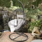 Trent Austin Design Dawson Outdoor Wicker Basket Swing Chair with Stand