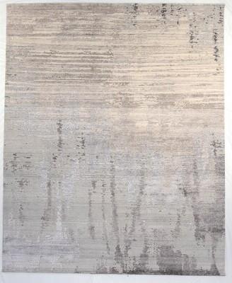 F.J. Kashanian 8' x 10' Velvet Rug, Silver