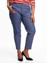Old Navy Smooth & Slim Plus-Size Linen-Blend Pixie Pants