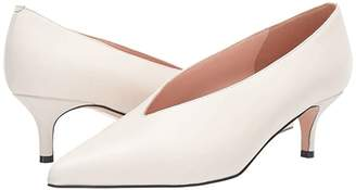 J.Crew Leather Closed Eloise Pump (Ivory) Women's Shoes