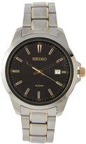 Seiko SUR167 Silver-Tone & Black Watch