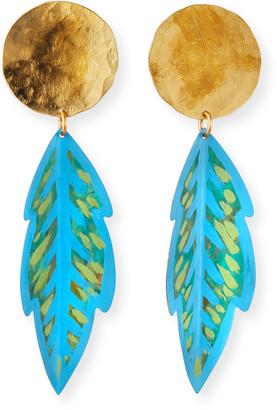 We Dream In Colour Praslin Earrings, Blue