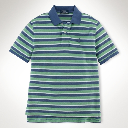 Striped Short-Sleeved Polo