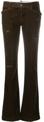 DSQUARED2 Distressed Flared Corduroy Trousers
