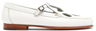 Hereu - Forada Cut-out Leather Loafers - Womens - White