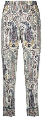 Etro Paisley Print Straight-Leg Trousers