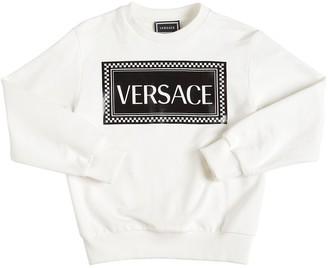 Versace Rubber Print Cotton Sweatshirt