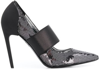Diesel Sequined high-heel pumps with band