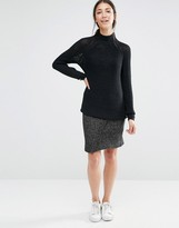 Vila Knit Skirt with Split Front