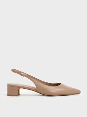 Charles & Keith Pointed Toe Slingback Heels