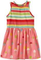 Pink Chicken Riley Dress (Baby) - Multi Stripe/Pink Lemonade-12-18 Months