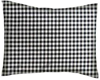 Sheetworld Twin Pillow Case - Percale Pillow Case - Black Gingham Check