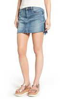 Blank NYC Women's Blanknyc Step Hem Denim Miniskirt
