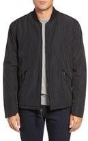Andrew Marc Men's Dalton City Rain Bomber Jacket With Faux Shearling Lining
