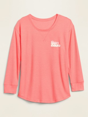 Old Navy Graphic Thermal-Knit Long-Sleeve Tee for Women