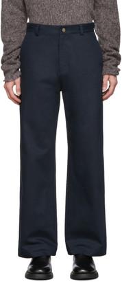 Keenkee Navy KK Flare Trousers