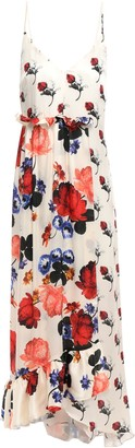 Mother of Pearl Wrap-effect Floral-print Silk-satin Midi Dress