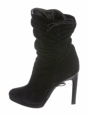 Gucci Suede Slouch Boots Black