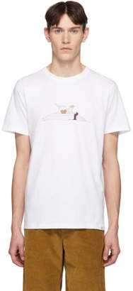 Norse Projects White Daniel Frost Edition Reading T-Shirt