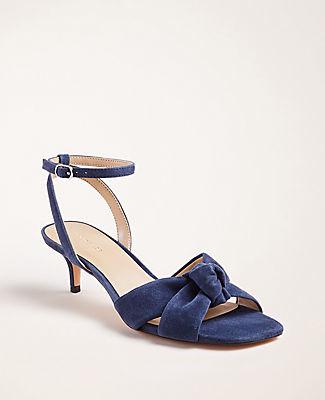 Ann Taylor Olenna Suede Knot Slingback Sandals