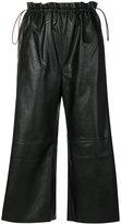 MM6 MAISON MARGIELA cropped faux leather trousers - women - Polyurethane/Viscose - 40
