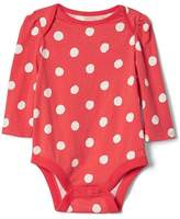 Gap Polka dot long sleeve bodysuit