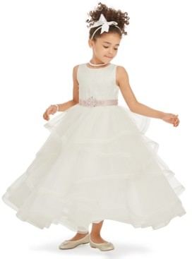 Rare Editions Toddler Girls Tiered Tulle Gown