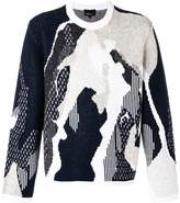 3.1 Phillip Lim abstract knit jumper