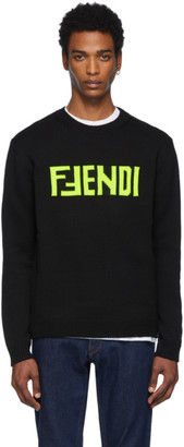 Fendi Black F Sweater