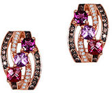 LeVian 14K Rose Gold Multi Diamond Earrings