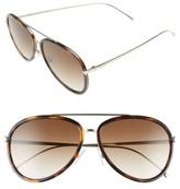 Fendi Women's 57Mm Aviator Sunglasses - Black/ Yellow Gold