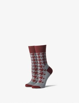 Tommy John Women's Stay Up Dress Sock, Print