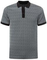 Giorgio Armani Geometric Diamond Polo Shirt