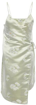 Ganni Senna Satin-jacquard Mini Wrap Dress