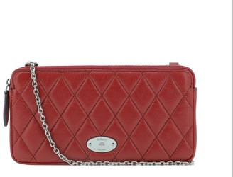 Mulberry Logo Plaque Quilted Shoulder Bag