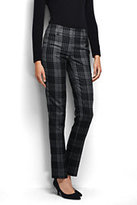Classic Women's Petite Mid Rise Slim Leg Pants-Black Houndstooth