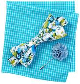 Original Penguin Conrad Floral Bow Tie, Pocket Square, & Lapel Stick Pin Set