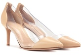 Gianvito Rossi Exclusive To Mytheresa.com – Plexi 70 Leather And Transparent Pumps