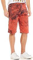 Levi's 569TM Loose Straight-Fit Paint-Splatter Denim Shorts