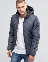 Blend of America Hooded Quilted Jacket Ebony Gray